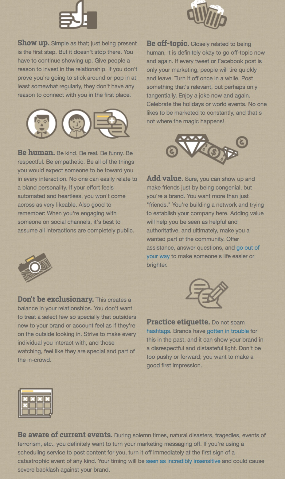 infographic about content mix