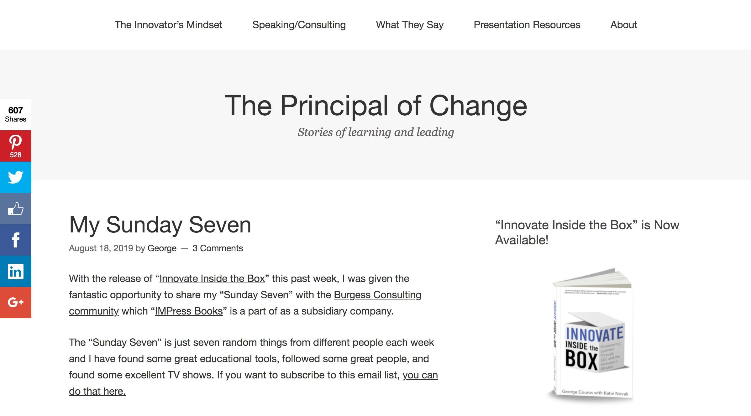 Principal of Change